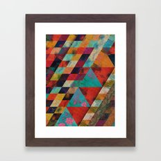 Geometric Reason Framed Art Print