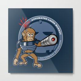 Automated Laser Monkey Metal Print