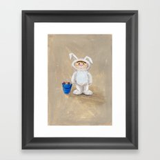 I'm A Rabbit - but I wanted to be a Fireman Framed Art Print