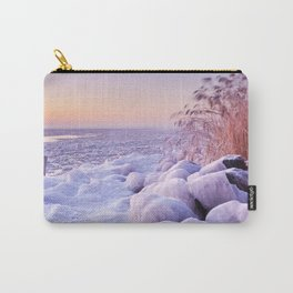 Frozen lake Markermeer, The Netherlands at sunrise Carry-All Pouch