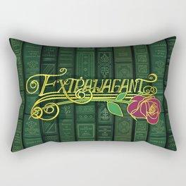 Extravagant Design Series: Book Pattern With Text Rectangular Pillow