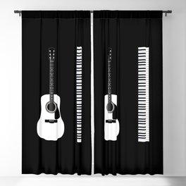 Guitar Piano Duo Blackout Curtain