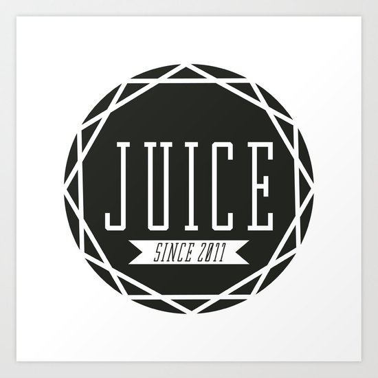Juice Emblem Art Print