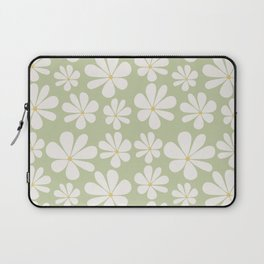Floral Daisy Pattern - Green Laptop Sleeve