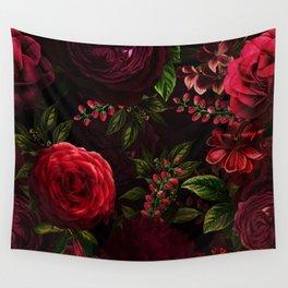 Mystical Night Roses Wandbehang