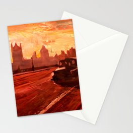 London Taxi Big Ben Sunset with Parliament Stationery Cards