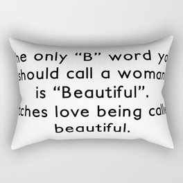 Beautiful Bitches Rectangular Pillow
