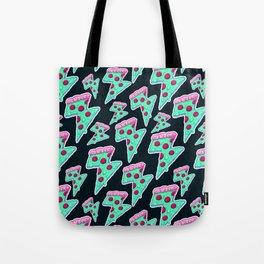 Thunder Neon Pizza Tote Bag