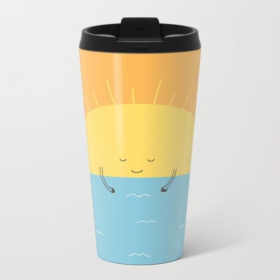 good morning sunshine! Metal Travel Mug