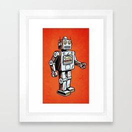 Retro Robot Toy Framed Art Print