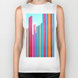 Colorful Rainbow Pipes Biker Tank