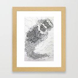 Jellyfish drawing Framed Art Print