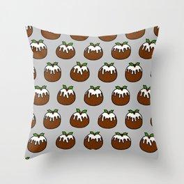 Xmas Puddings Throw Pillow
