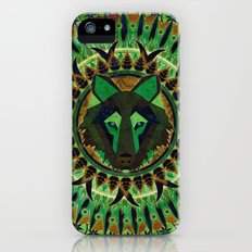 Wolf in Green Slim Case iPhone (5, 5s)