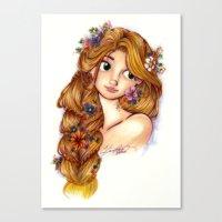 rapunzel Canvas Prints featuring Rapunzel by MissKerrieJ