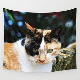 Sweet Cat Portrait Wall Tapestry