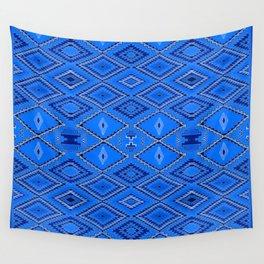 Blue Navajo inspired pattern. Wall Tapestry