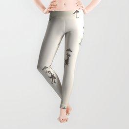 Umbrella Girl - Hand drawn design Leggings