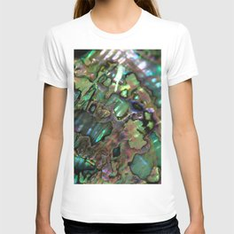 Oil Slick Abalone Mother Of Pearl T-shirt