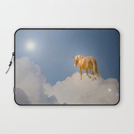 Walking on clouds over the blue sky Laptop Sleeve