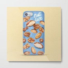 Food Pun - Nut Case Metal Print