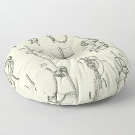 Vintage Knots Chart Floor Pillow