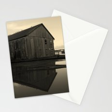 Warehouse Reflection in Yellow Stationery Cards