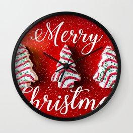 Christmas Baking Wall Clock
