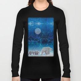 Arctic Journey of Polar Bears Long Sleeve T-shirt