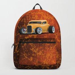 Classic American 32 Hotrod Car Illustration Backpack