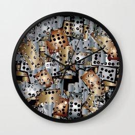 metal scraps Wall Clock