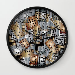 metal scraps Wall Clock