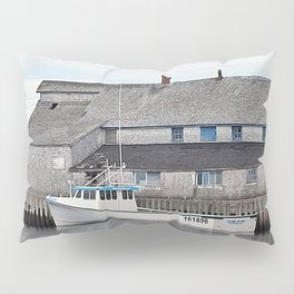 Lobster Boat and Old Building Pillow Sham