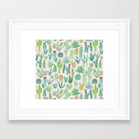 cactus Framed Art Prints featuring Cactus by Abby Galloway