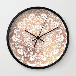 Mandala Rose-Gold Shine Wall Clock