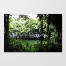 Travel Photography : Los Tres Ojos - Dominican Republic Cave Canvas Print