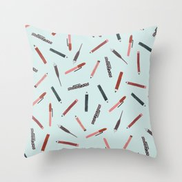 Pens and pencils Throw Pillow
