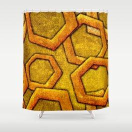 Cool Pentagon shape vibrant texture Shower Curtain