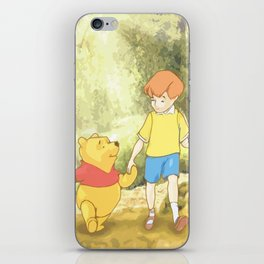 Christopher and Pooh Bear iPhone Skin