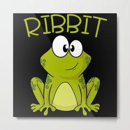 Ribbit Toad Limbs Jump Gills Pond Design Metal Print