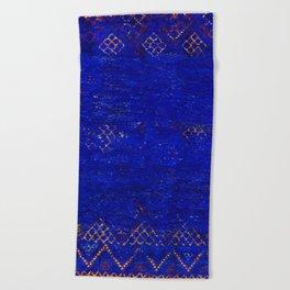 -A5- Royal Calm Blue Bohemian Moroccan Artwork. Beach Towel