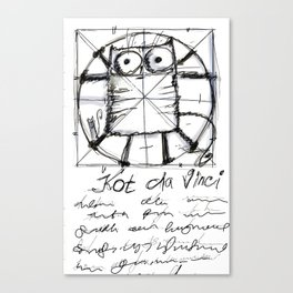 Kot da Vinci (black and whie) Canvas Print