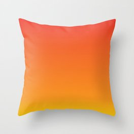 Red+Yellow=Orange Throw Pillow