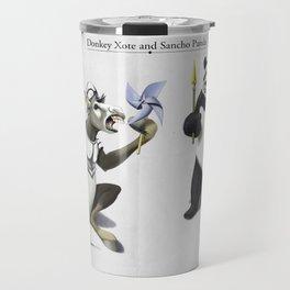 Donkey Xote and Sancho Panda Travel Mug