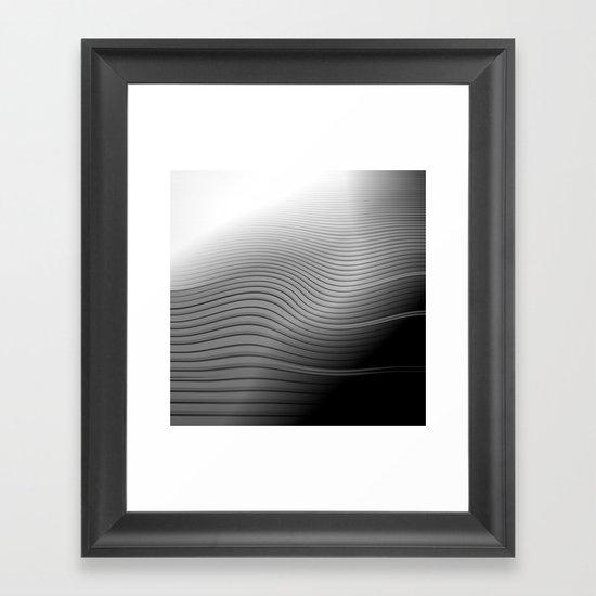 Metal. Wave. Framed Art Print