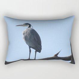 Great Blue Heron with a bird's eye view Rectangular Pillow