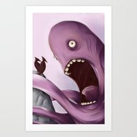 kraken Art Prints featuring Kraken by Jacques Marcotte