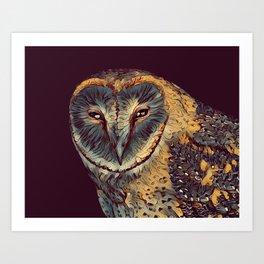 THE OWL 002 - The Dark Animal Series Art Print