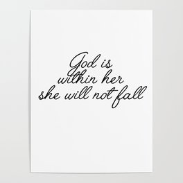 god is within her Poster