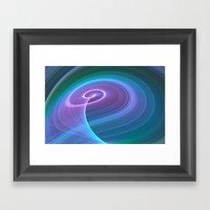 Spiral of Light in Blue Framed Art Print